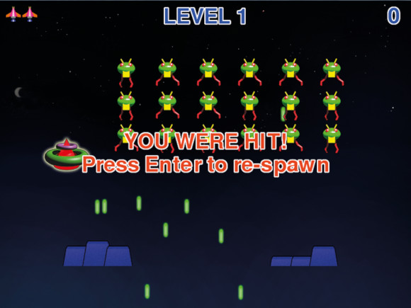 Space Invaders II: You were hit