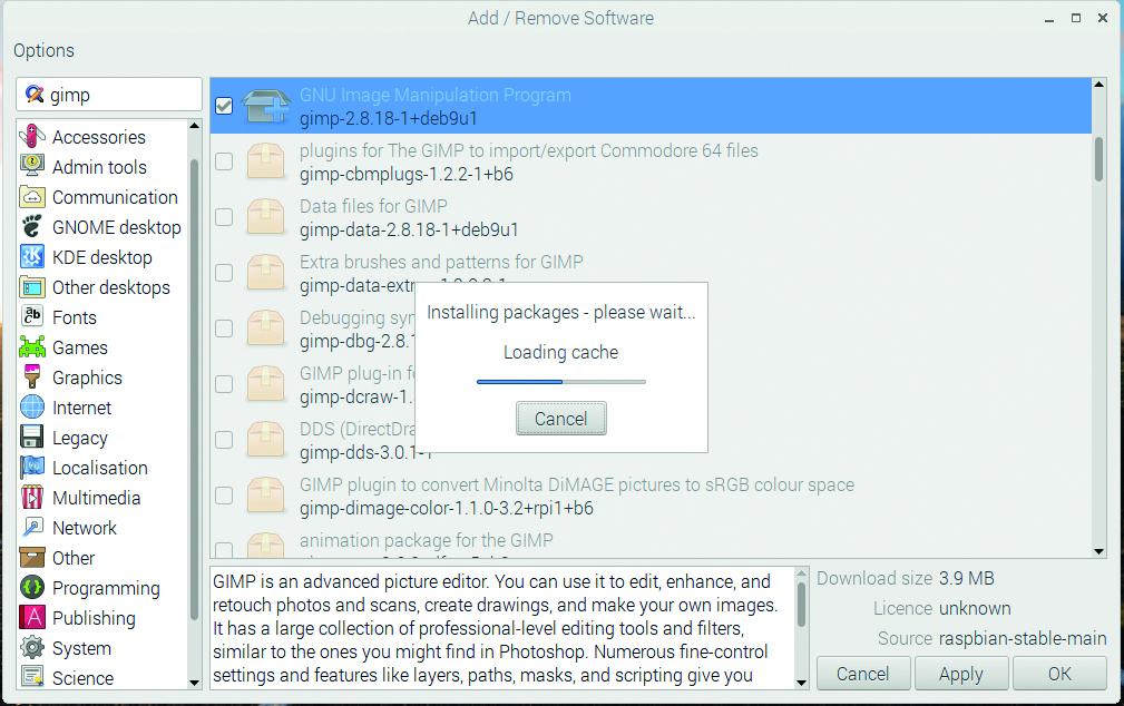 Install apps on Raspberry Pi