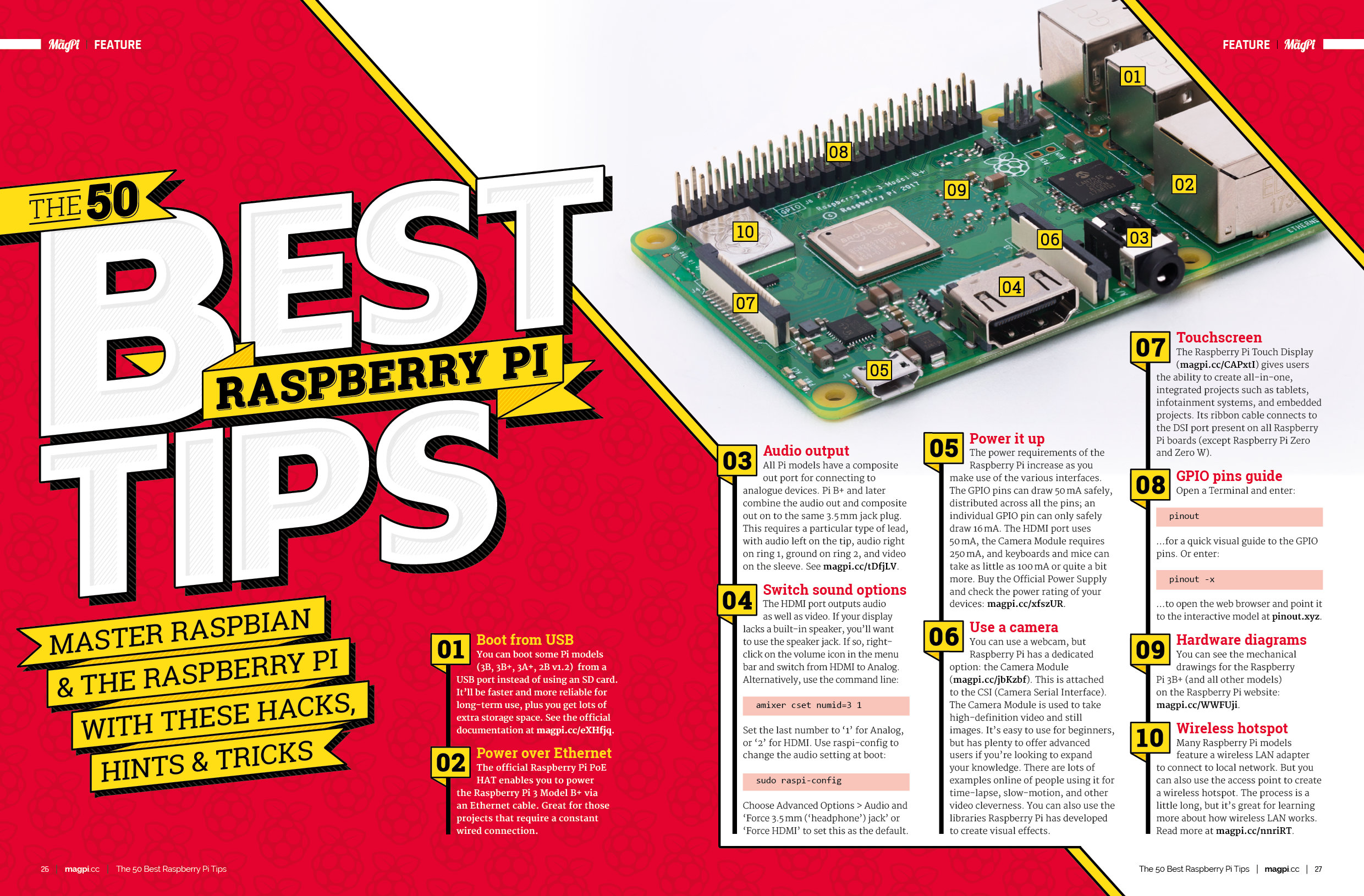 The 50 best Raspberry Pi tips in The MagPi 80