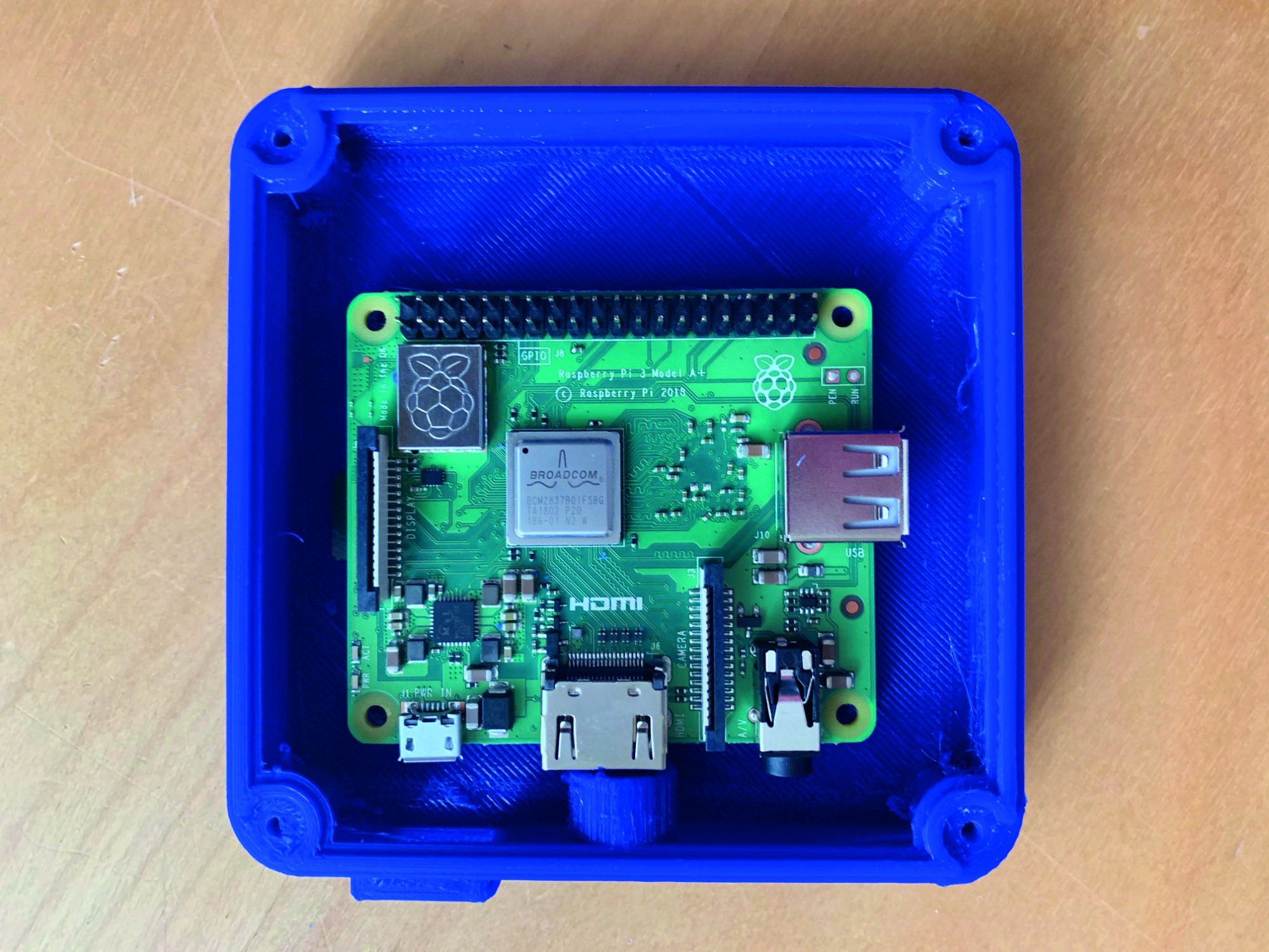 Raspberry Pi inside waterproof case