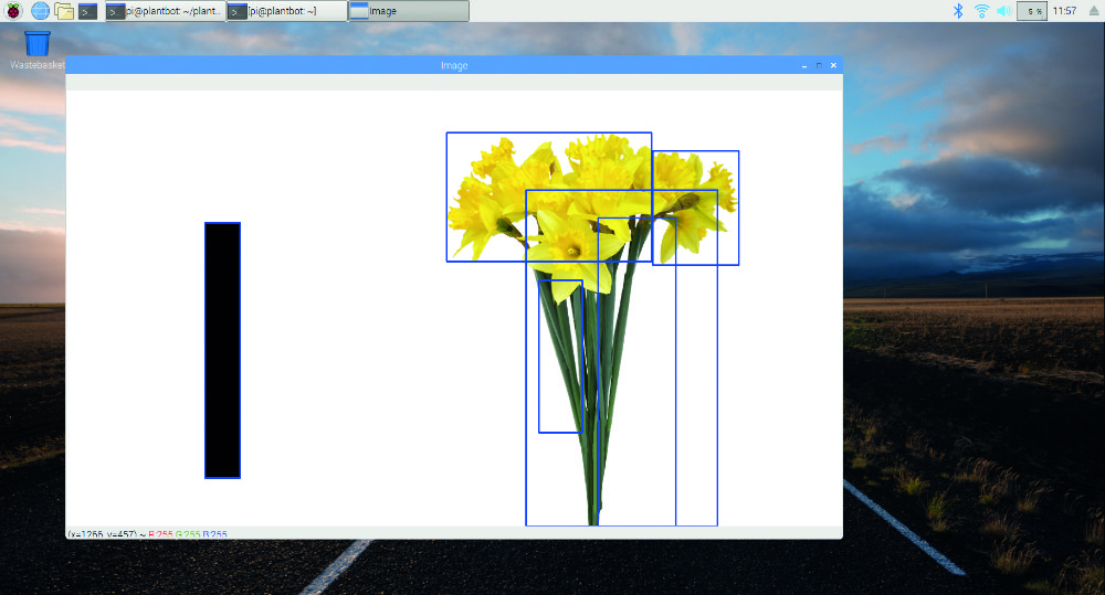 OpenCV mapping the test image