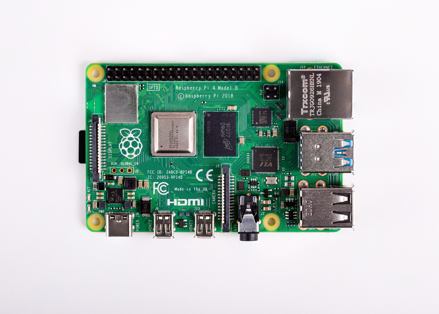 Raspberry Pi 4 top down