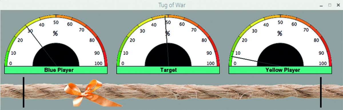 Figure 10 Tug of War in play